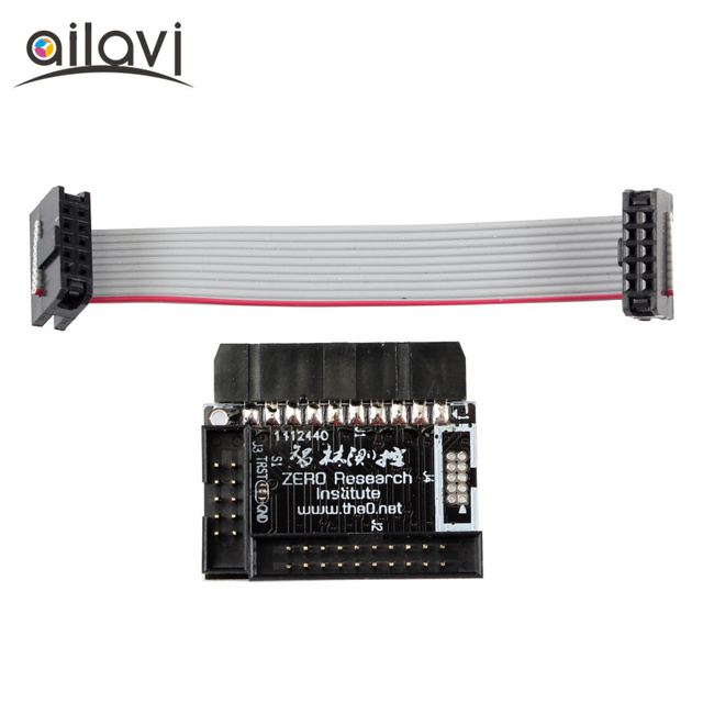US $7 49 |Standard ARM 20 pin JTAG Interface to 10 pin 2 0mm Spacing SWD  /JTAG Interface Adapter Compatible With Our LPC1114 Core Module-in  Instrument