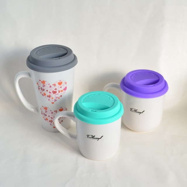 b8333ed7672 Eco-Friend silicone lids for mugs(without mugs)Dustproof lids for Ceramic  Coffee Mugs drinking cup lids Support wholesale plumyl