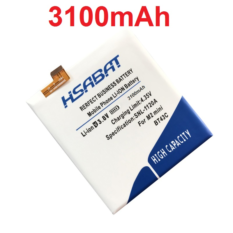 imágenes para HSABAT BT43C 3100 mAh de La Batería para Meizu Meilan 2 M2 mini M2mini