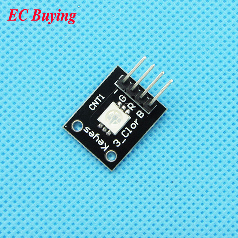 5 pcs Keyes KY-009 3 Color RGB SMD Module LED Board Module 5050 Full Color Diodes DC 5V  ...