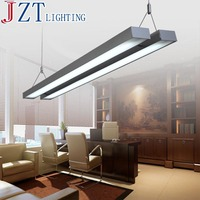 M Best Price T5 Double Tube LED Office Chandeliers Modern And Concise Aluminum L120xw18cm 56W Black