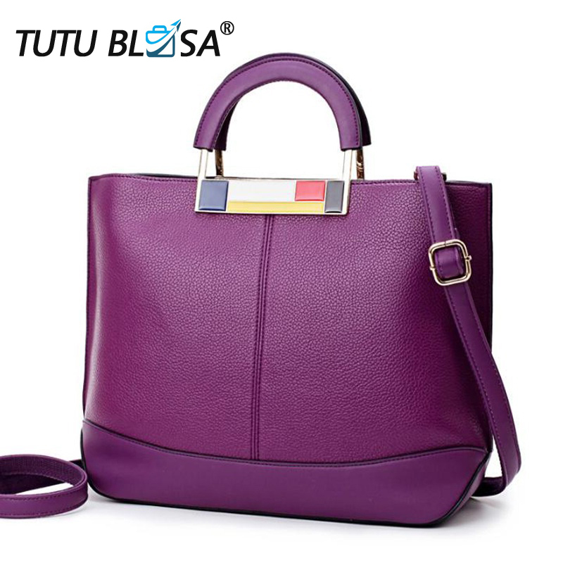 Women Luxury Leather Handbags 2018 Famous Brand Messenger Bag for Women s Bag Large TBote Top