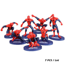 7pcs/lot Marvel Toys Avengers Endgame Infinity War Spiderman Figure Set Superhero Spider-man PVC Action Figure Collectible Model цена 2017