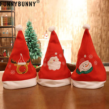 FUNNYBUNNY Christmas Hat for Childrens and Adults Non-woven Pleuche New Hats Celebrations Recreation Xmas ornament