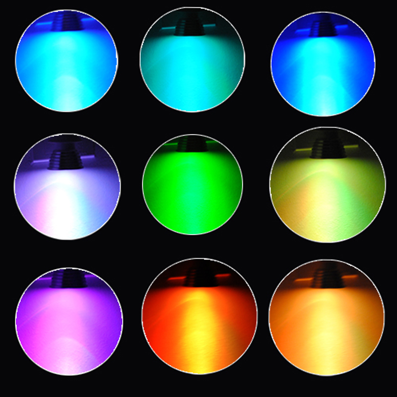 Купить с кэшбэком 5PACK E27 3W 1X3W LED Dimmable/24Keys Remote-Controlled/Decorative RGB Spotlights RGB LED lamps 16 Color Change bulb 85-220V