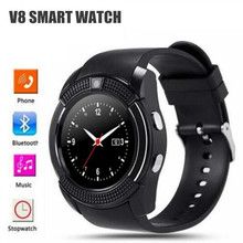 ФОТО 10pcs/lot v8 wristwatch support sim tf card slot bluetooth sport clock with camera mtk6261d smartwatch pk a1 gt08 u8 dz09 m26