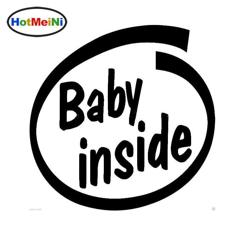 HotMeiNi 10 Colors Funny Baby Inside Warning Letter Arts Reflective Waterproof Car Stick ...