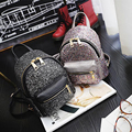 New arrival women pu Leather Backpack sequin children mini backpack school bags for Teenage Girls Small travel rucksack XD3858