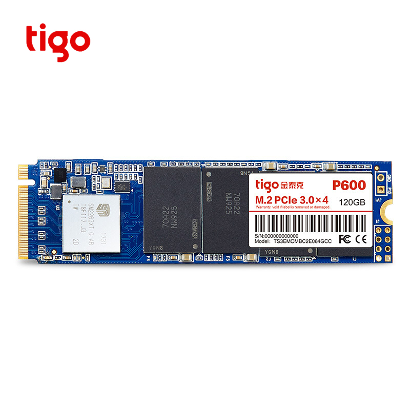Tigo 120 GB SSD PCIe M.2 2280 Interne Solid State Drive PCI-e 3.0x4 NVME Ordinateur Portable De Bureau PC 120G 240G P600