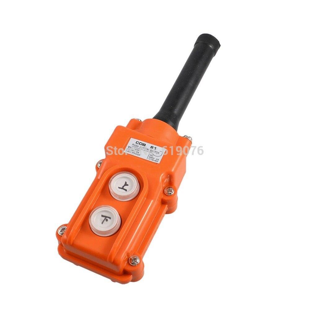 цена на Hoist Crane Pendant Up-Down Rain Proof COB61 Pushbutton Switch AC 250V/500V