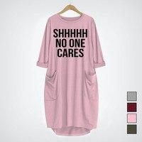 2019 Новая модная футболка для женщин shhhh no one care забавная футболка Плюс Размер Топы Графические футболки для женщин с открытыми плечами