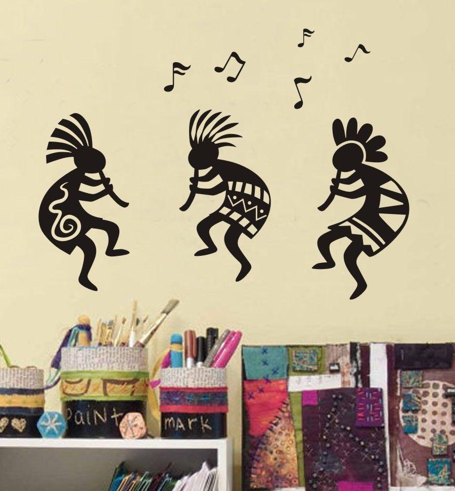 D418 юго Кокопелли Race Tribe праздновать музыка виниловая наклейка стены Цитата Стикеры