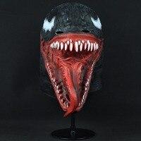 Crazy Venom Latex Mask Cosplay Black Spider Man Edward Brock 2