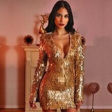 ミニクラブドレス Vestidos V エレガントなセクシーなディープ