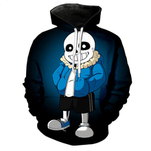 Adult Undertale Sans Cosplay Hoodies Women Men Skull 3D Printed Hooded Hip Hop