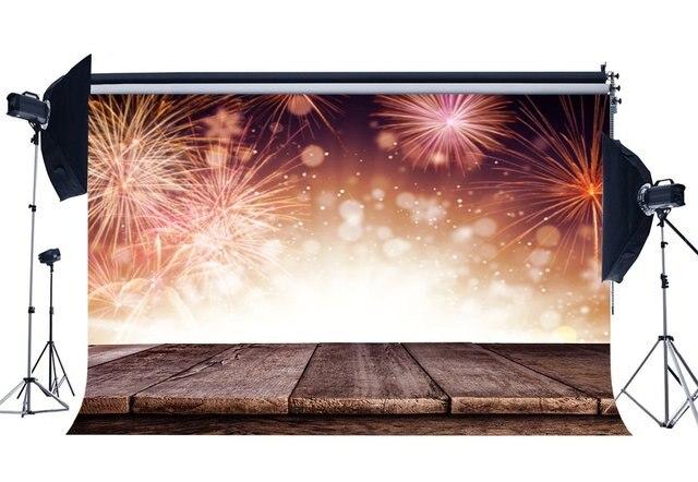 Fotografie Hintergrund Frohe Weihnachten Feuerwerk Vintage Streifen Holz Boden Bokeh Weihnachten Kulissen Frohes Neues Jahr Hintergrund