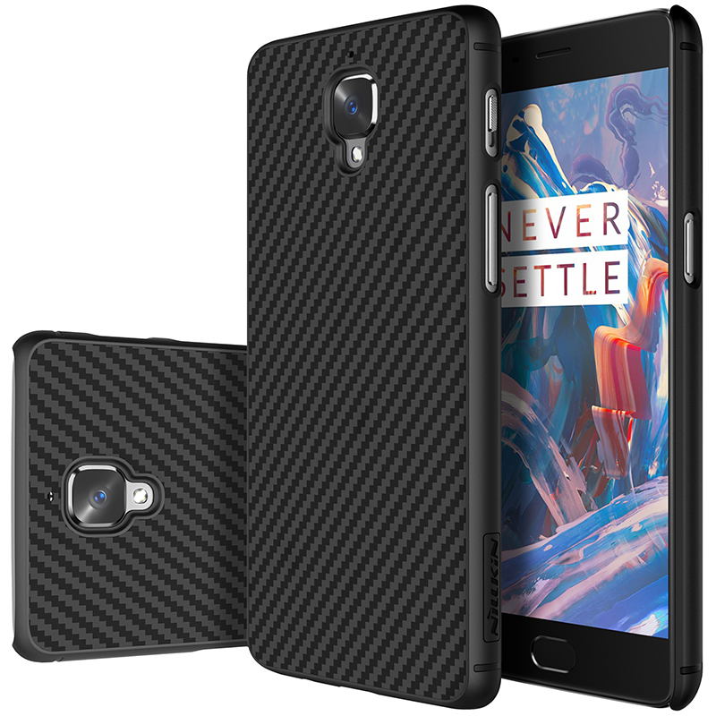 Nillkin synthetic fiber phone case for oneplus 3t case cover 5.5'' Carbon Fiber PP Plastic Back Cover Case for oneplus 3 t case