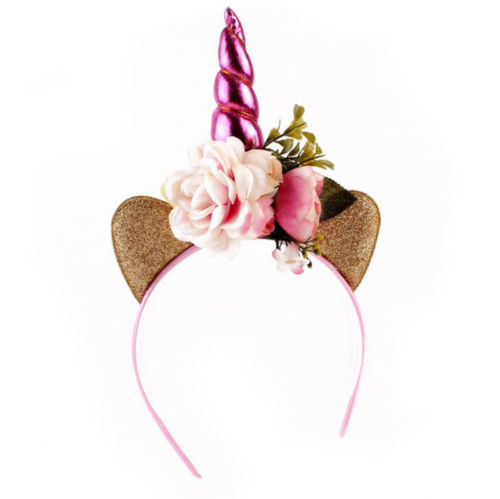 Christmas Headband For Baby Girl.Us 2 15 25 Off Fairy Flower Pixie Unicorn Horn Crown Headband Piece Kids Baby Girls Christmas Headbands In Christmas Headbands From Home Garden On