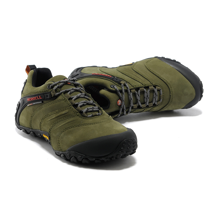Merrel Asli Profesional Pria Luar Nubuck Kulit Asli Sepatu Hiking untuk  Pria Wearable Mountaineer Climbing Sneakers di Hiking Shoes dari Olahraga    Hiburan ... 9bbfc6a411