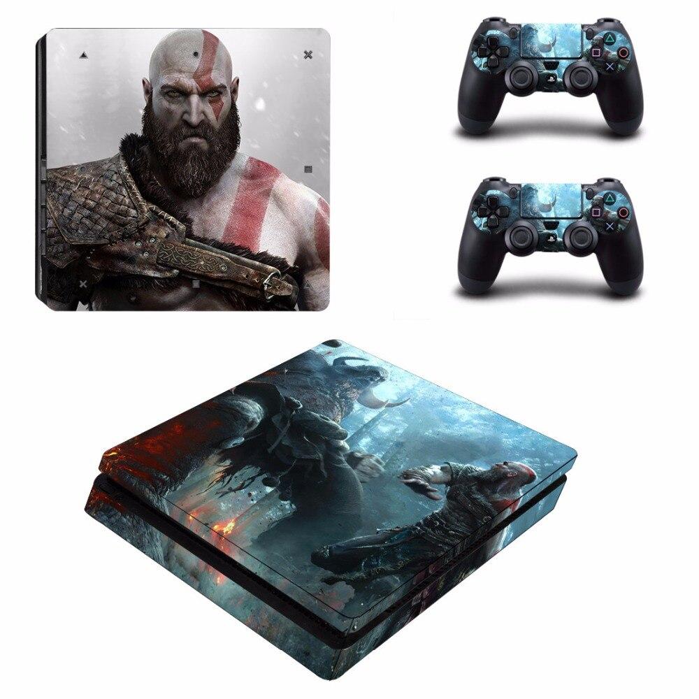 Купить с кэшбэком God of War PS4 Slim Skin Sticker Decal Vinyl for Playstation 4 Slim and 2 Controllers PS4 Skin Sticker