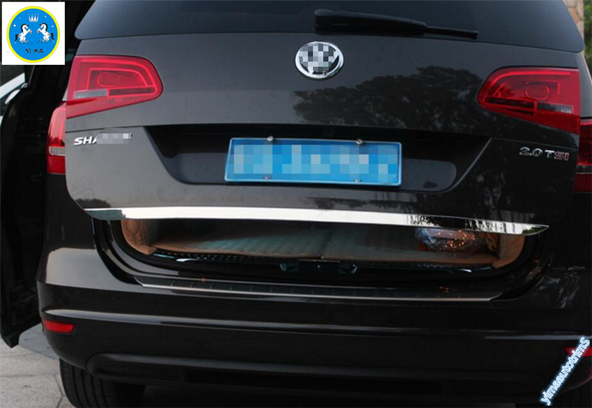 New font b Accessories b font For Volkswagen Sharan 2012 2016 Stainless Steel Rear Tailgate Trunk