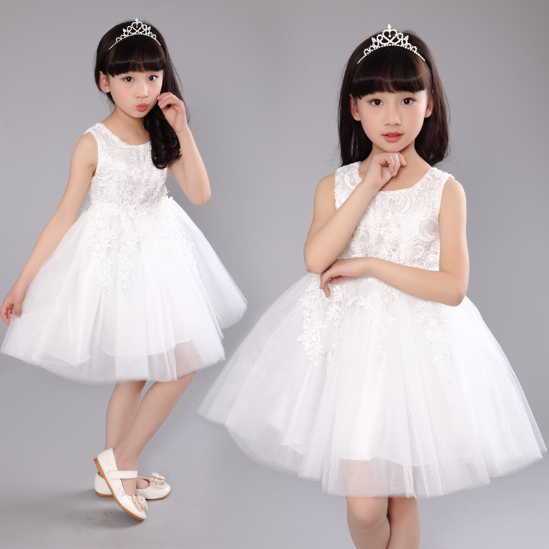 Girl Dresses Children Dress kids dress Party Summer Princess Baby Girl Wedding Dress Birthday Off white Color