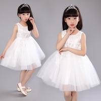 Girl Dresses Children Dress Kids Dress Party Summer Princess Baby Girl Wedding Dress Birthday Off White