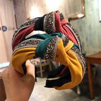 Haimeikang épais velours casque pour femmes accessoires de cheveux mode large solide couleur bandeau en plastique cheveux cerceau bandeaux