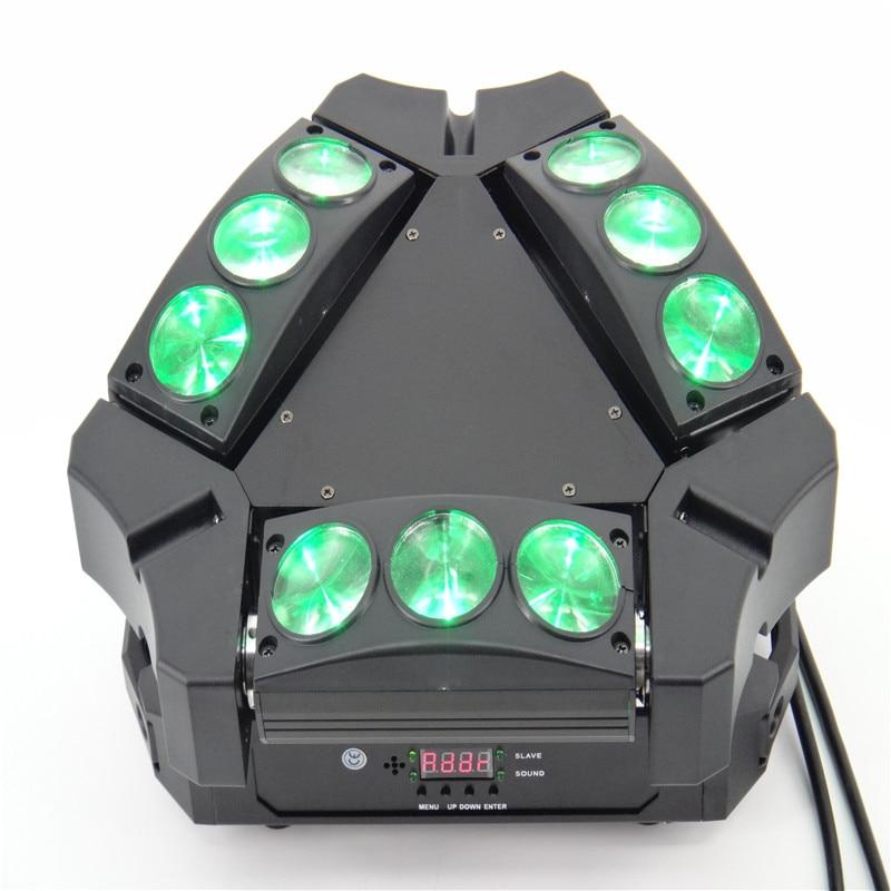 4pcs/lot New Arrival Mini LED 9x10W Led Spider Light RGBW 16/48CH DMX Stage Lights Dj Led Spider Moving Head Beam Light