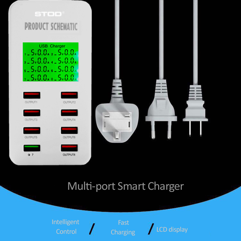 STOD Multi Port Smart USB зарядно устройство 35W - Резервни части и аксесоари за мобилни телефони - Снимка 3