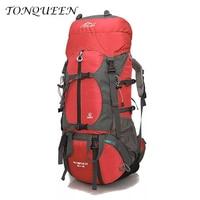 70L Climbing Camping Bag Professional Waterproof With Rain CoverRucksack Internal Frame Climbing Camping Hiking Backpack WX060