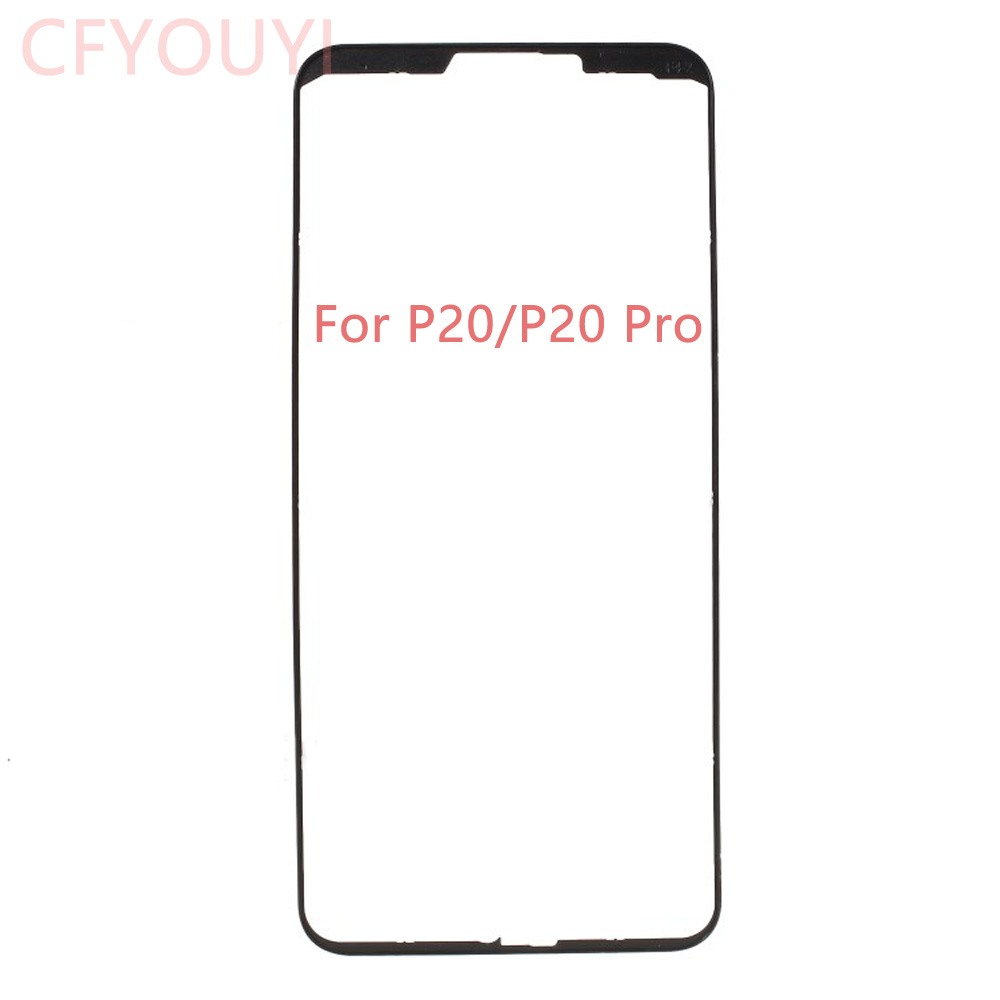 For Huawei P20 / P20 Pro LCD Front Supporting Frame Bezel Repair Part - Black / White