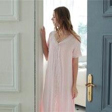 Женщины Пижамы Ночной Рубашке Долго Рубашка Кратким Стиль Пижамы Высокое Качество Модальные Хлопок Мягкий Пижамы Белый Розовый Ночная Сорочка