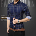Plaid Mens Shirts Fashion Style 100% Cotton 2017 Mens Dress Shirts Clothes Social Casual Shirt Men Brand Chemise Homme M-5XL