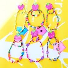 TopHanqi 20 комплектов(1 шт ожерелье+ 1 шт браслет) много детей Прекрасный Деревянный бисер комплект ювелирных изделий для девочек партия ювелирных изделий
