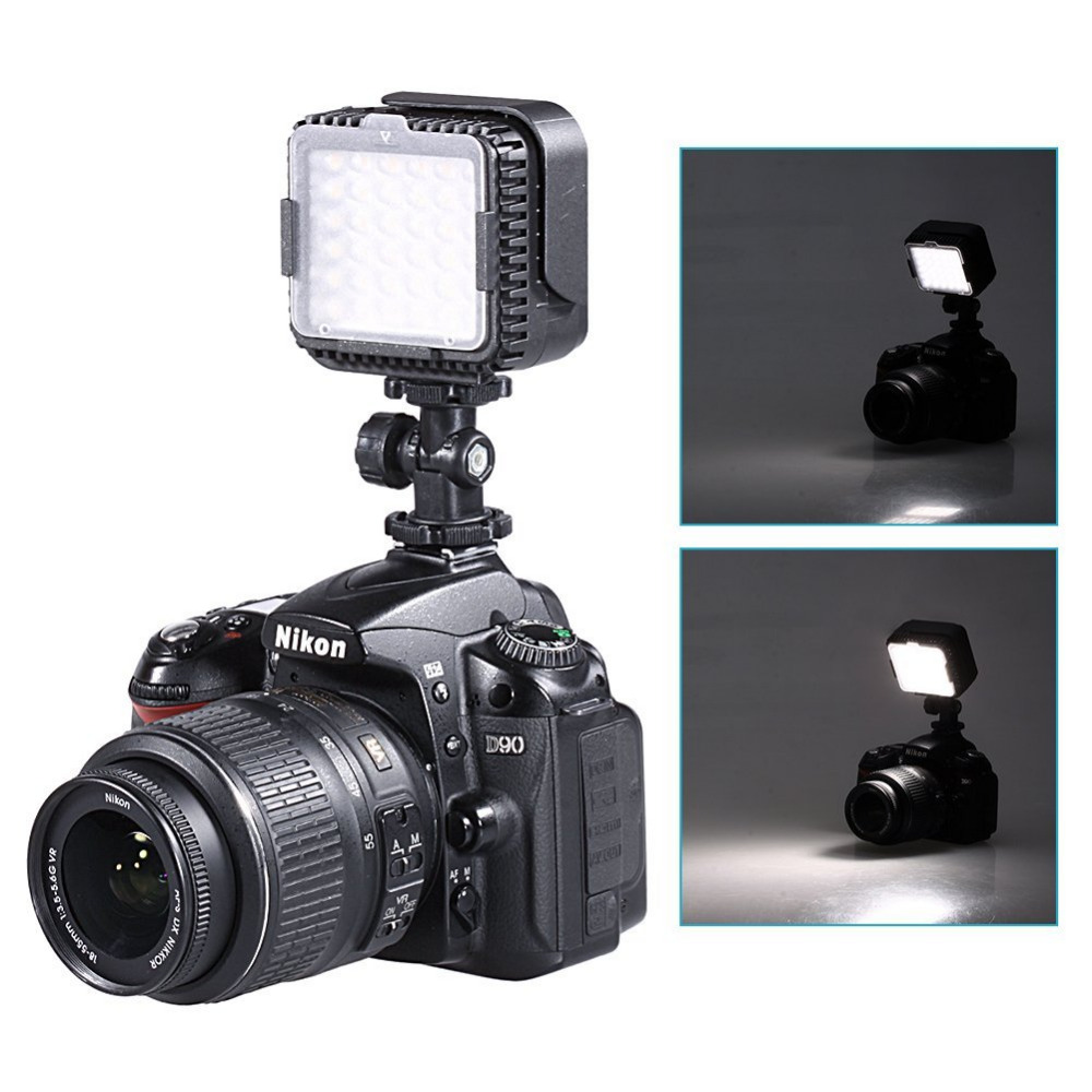 Neewer 5400 k-led dimmable ha condotto la lampada della luce video con diffusori morbido + filtri per canon nikon camera dv camcorder