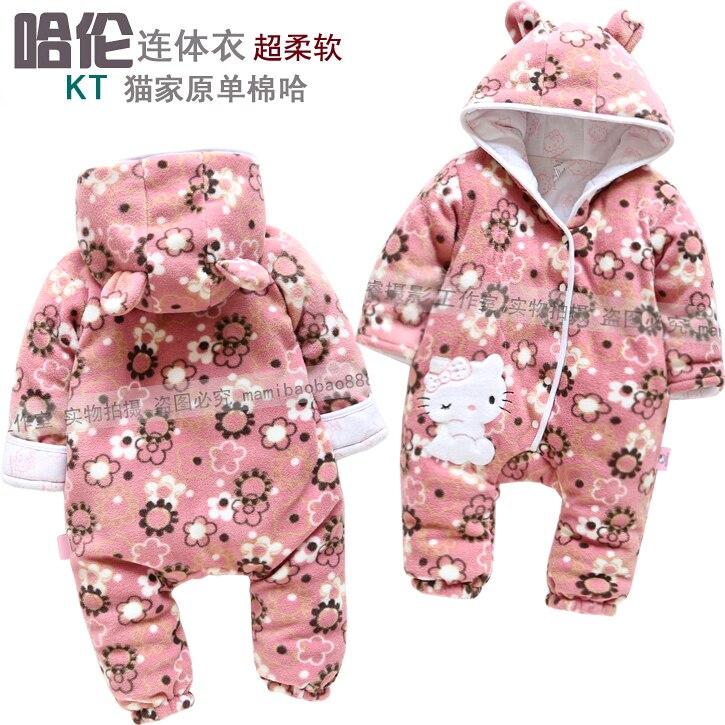 2013 New Arrive Retail fashion baby romper for autumn-winter fleece one piece children kids big pp  jumpsuit cotton-pad 6m-24m 6 24m baby autumn
