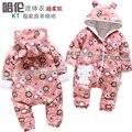 2013 llegan nuevos al por menor de moda para el otoño invierno fleece una pieza niños niños grande del mono pp algodón pad 6 m - 24 m