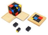 מונטסורי צעצוע תינוק/ילדים מראש מונטסורי למידה מוקדמת מתנת אבני בניין צעצוע חינוכיים ילד קוביית Trinomial