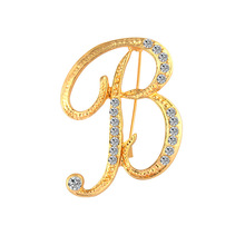 2019 fashion new creative English letter brooch high-end atmospheric trend personality luxury