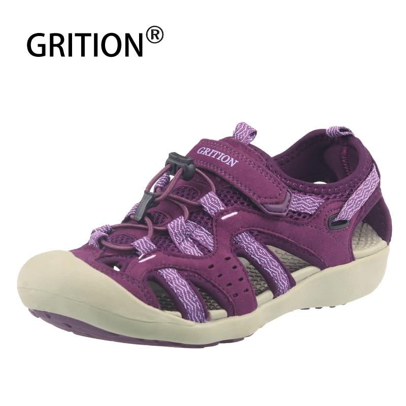 Grition sandálias femininas verão 2020 praia ao ar livre fechado toe moda sandálias de alta qualidade primavera conforto sapatos casuais tamanho grande 41