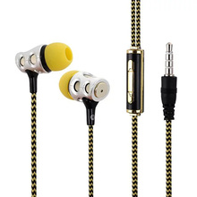 Fashion Stereo Music Earphone Hole Shape Headset with Microphone 3 5mm Wire Earphones Headsets for IOS