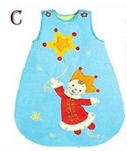 Ребенка спальный мешок Младенческой Ползунки Рукавов Зимний спальный мешок Мультфильм новорожденный ребенок спальные мешки зимние Детские девушка одежда