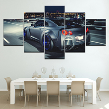 Canvas Wall Art Picture Modern Print painting Large Peaceful Waterfall 5 Panels Landscape Pictures Photo HUI DA SHI