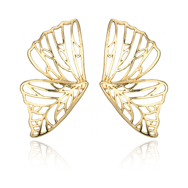 Docona Gold Silver Hollow Butterfly Drop Dangle Earring for Women Metal Big Wing Pendant Earring Statement.jpg 640x640 - Docona Gold Silver Hollow Butterfly Drop Dangle Earring for Women Metal Big Wing Pendant Earring Statement Jewelry brincos 6218