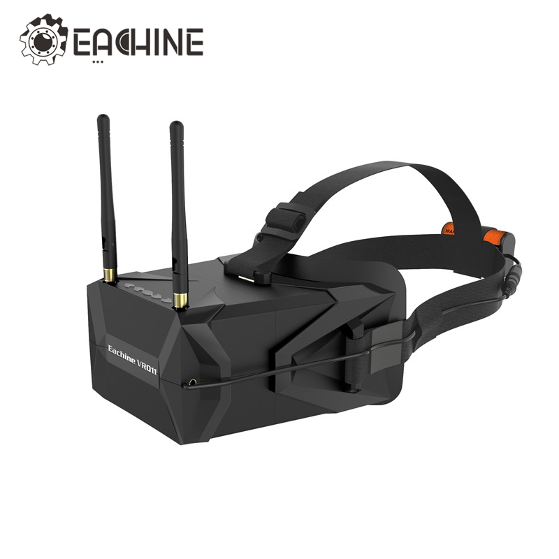 In Stock! Eachine VR011 5 Inches 800x480 Diversity FPV Goggles 5.8G 40CH Raceband Pro DVR VS EV100 VR D2 EV800D Fatshark Aomway original aomway rx006 dvr video recorder 5 8g 48ch diversity raceband a v receiver for rc multicopter antenna transmitter part