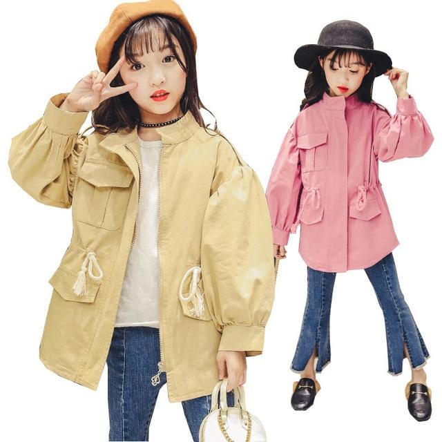 Обувь для девочек Пальто для будущих мам 2018 Весенние жакеты для Обувь для девочек одежда Детские ветровки Пальто для будущих мам подростков куртки для девочек детей Костюмы