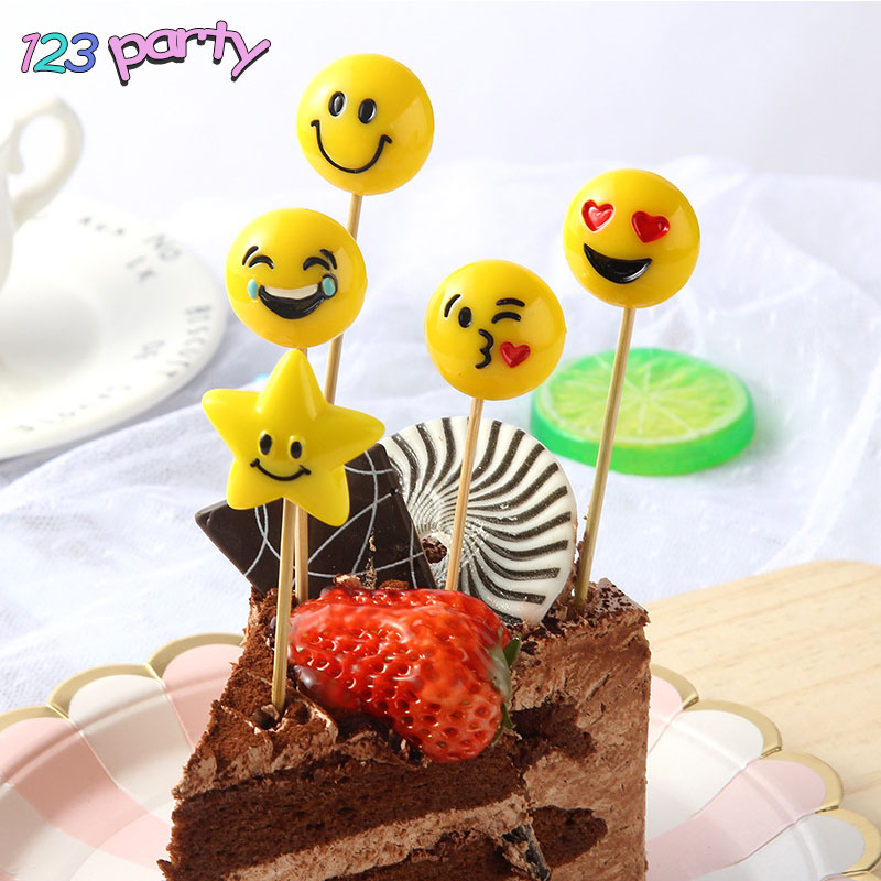 Detail Feedback Questions About 5Pcs Emoji Happy Birthday Cake Decoration Flag Childrens Party Baking Wedding Decorations Cute And Fun DIY Supplies