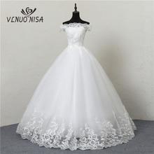 Vestido De novia Grande De encaje cuello De barco vestido De novia vestido De baile De princesa De talla Grande Vintage novias 20