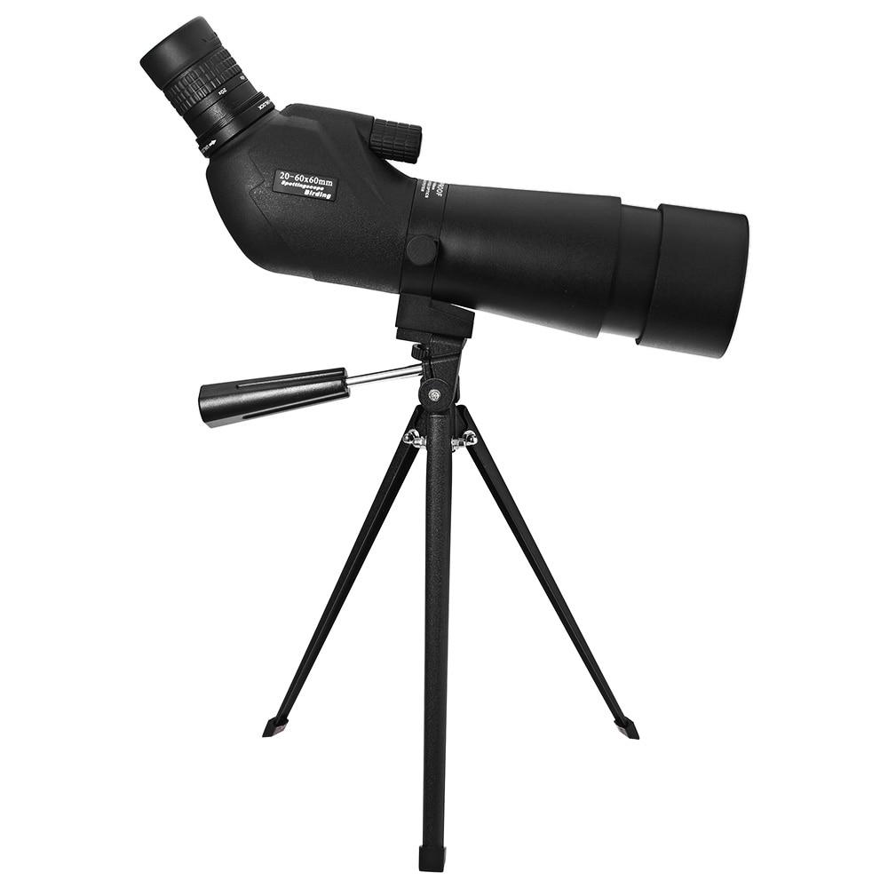 Professional Black HD Monocular Optics Telescope 20-60 x 60 Porro BAK 4 Prism Target Spotting Scope Outdoor Adjustable Telescope 6x30mm compact porro prism fogproof monocular